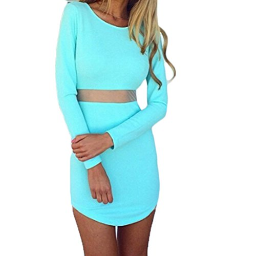 Amber Womens Long Sleeve Bandage Evening Party Mini Dress