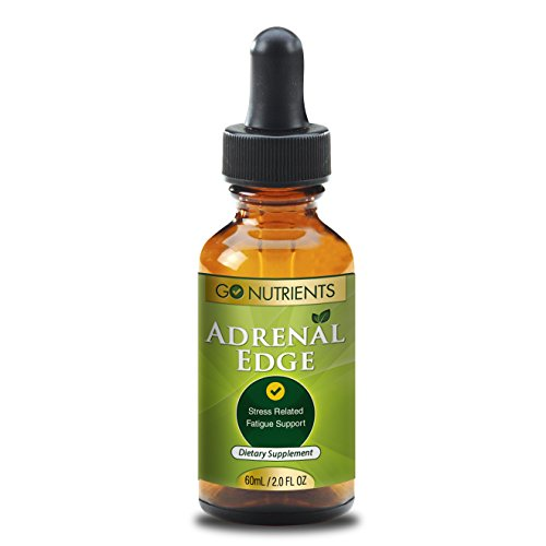 Adrenal Fatigue Support Supplements – Formula for Stress and Exhaustion – In Liquid Drops for Easy Absorption – 2 oz Bottle – Adrenal Edge