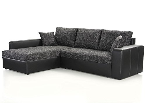 Ecksofa Vida 244x174cm anthrazit schwarz Couch Sofa Wohnlandschaft Polsterecke
