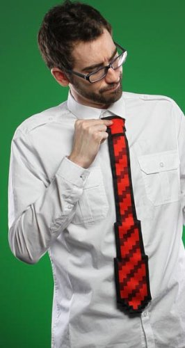 Think Geek 8 Bit 20″ Tie Red