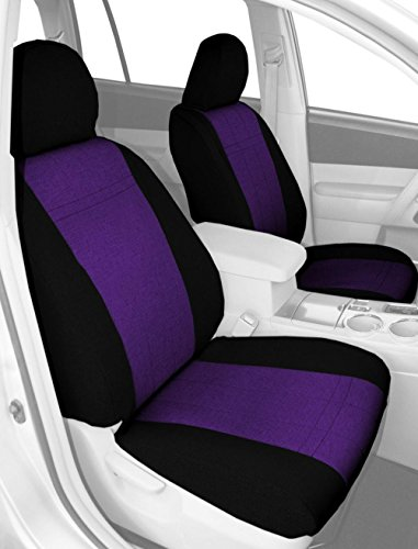 CalTrend Front Captain Chairs Custom Fit Seat Cover for Select Hummer H2 Models - Tweed (Purple/Black) (Hummer H2 Caltrend compare prices)