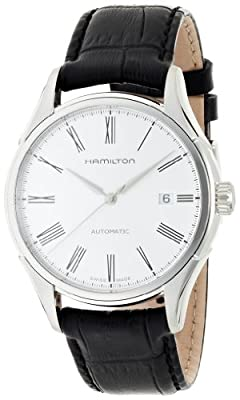 Hamilton Valiant Silver Dial Leather Strap Mens Watch H39515754 from Hamilton