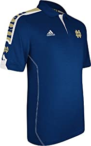 Notre Dame Fighting Irish Adidas 2012 Sideline Swagger Navy Performance Polo Shirt by adidas