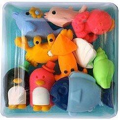 Iwako Japanese Eraser Set Marine Animals (Colors May Vary)