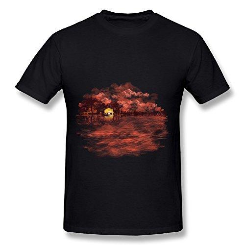 Hd-Print Men'S Tees Musical Sunset Xxl Black