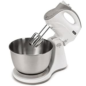 Sunbeam FPSBHS0301 250-Watt 5-Speed Hand and Stand Mixer Combo, White