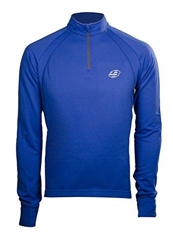 BRIKO Maglia nordic walking uomo zip corta LOSY ACTIVE TRAIN blu 010711 #