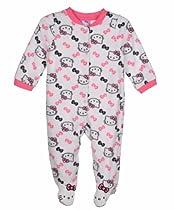 Hello Kitty Baby Baby-Girls Newborn White Microfiber Sleep and Play, White, Newborn