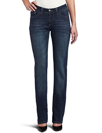 Lee Women's Petite Slender Secret Kingston Barely Bootcut Jean, Nile, 14 Short Petite