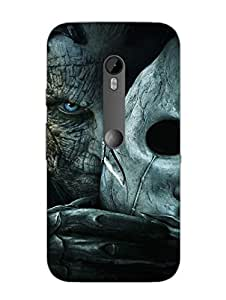 Evil Face - The Dark Side - Hard Back Case Cover for Moto X Style - Superior Matte Finish - HD Printed Cases and Covers