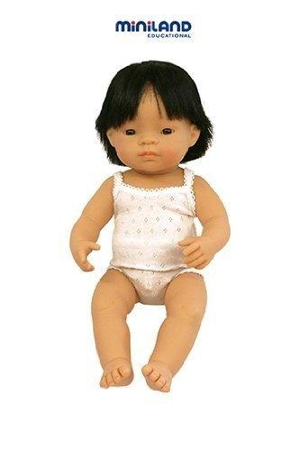 "Miniland Baby Doll Asian Boy (38 Cm, 15"") front-514855"