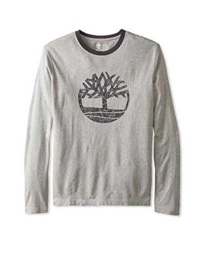 Timberland Men's Tree Tonal Ringer Long Sleeve T-Shirt