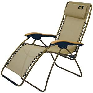 ALPS Mountaineering Lay-Z Nylon Mesh Wide Lounger, Tan by ALPS Mountaineering