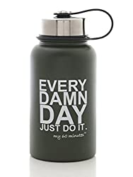 My 60 Minutes Black Gym Shaker Bottle 500ml (MM-S3-A12)
