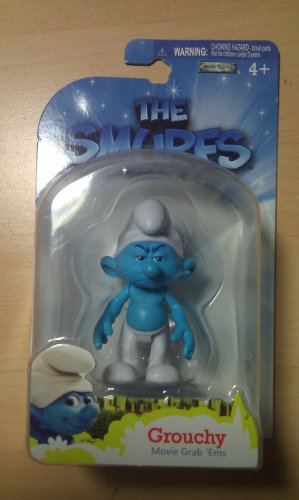 Picture of Jakks Pacific The Smurfs Movie Grab Ems Mini Figure Grouchy (B005FND144) (Jakks Pacific Action Figures)