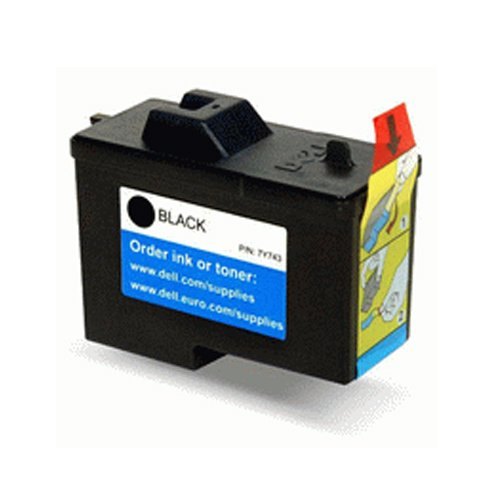 InkClub Compatible Dell 7y743 X0502 Black Ink Cartridge Remanufactured for All in One Printer A940, A960