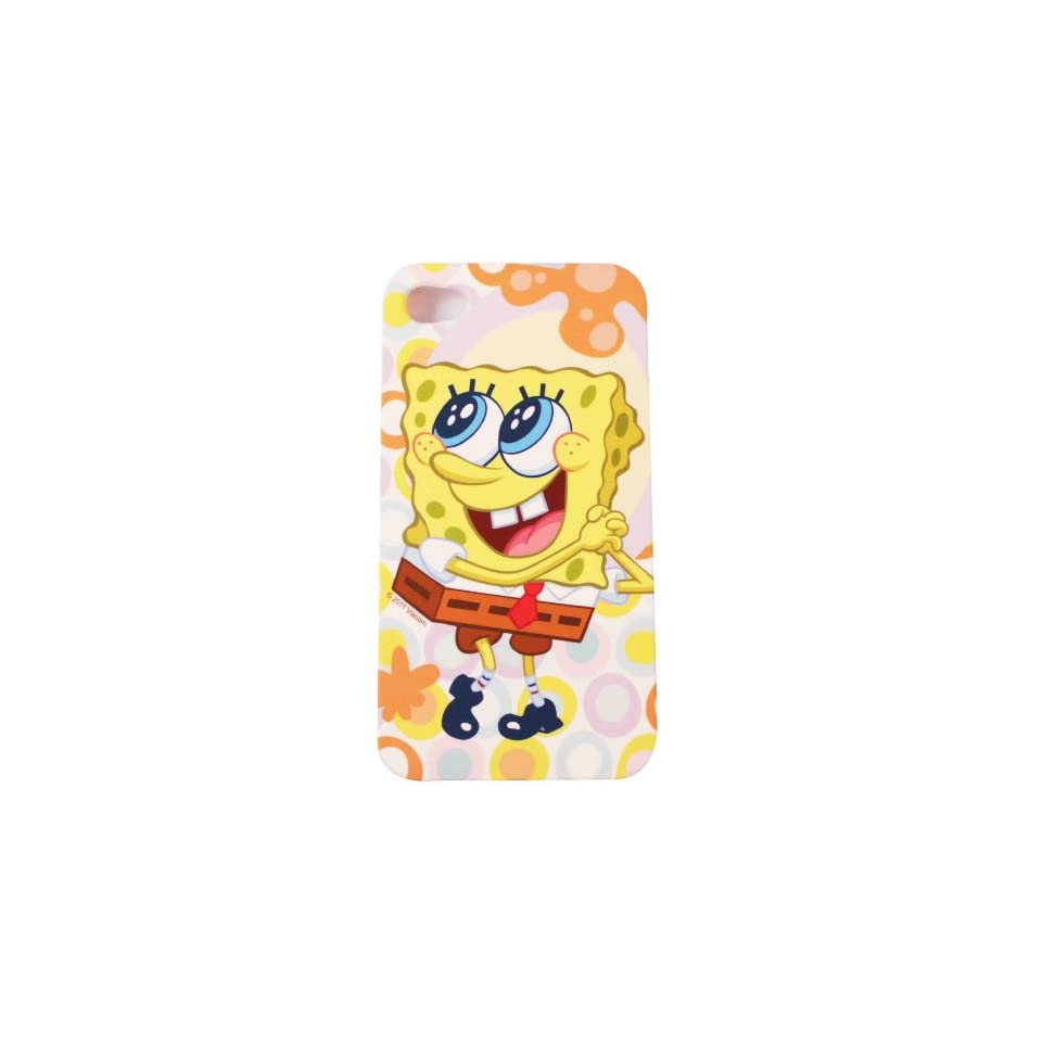 BUKIT CELL Nickelodeon TM SpongeBob SquarePants HARD BACK PIECE Faceplate Protector Case Cover (SpongeBob Wishing) for Apple iPhone 4S / 4G / 4 (Fits any carrier AT&T, VERIZON AND SPRINT) + Free WirelessGeeks247 Metallic Detachable Touch Screen STYLUS PEN