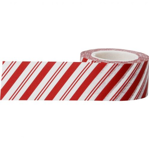 Little B 100188 Decorative Paper Tape, Candy Cane Stripes
