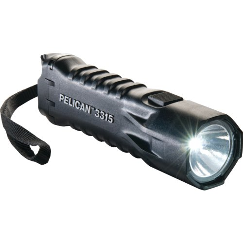 Pelican 033150-0100-110 Compact High Performance 113 Lumen Led Safety Approved Flashlight, Black
