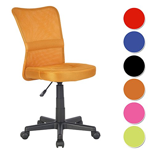 SixBros. Sedia ufficio sedia girevole arancio - H-298F/2067