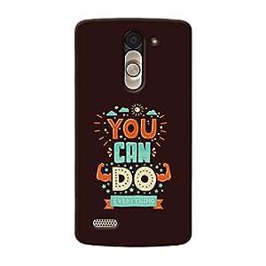 Garmor Designer Silicone Back Cover For LG L Bello D335
