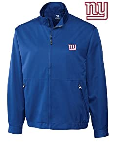 New York Giants Jacket Mens Weathertec Whidbey Jacket Tour Blue by Cutter & Buck