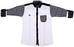 Accurate Boys' Cotton Shirt (SH 143, White, 16)