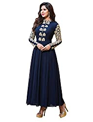 Shreenathji Enterprise Blue Georgette Dress Materials (H136_blue_Free size)