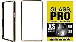 Moblo Bumper Cases Cover Black & Tempered Glass for Lenovo A6000 Plus