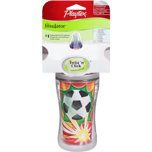 Playtex The Insulator Sport Straw Cup, 9 Oz 1 Cup (Assorted Colors) (Pack Of 2)