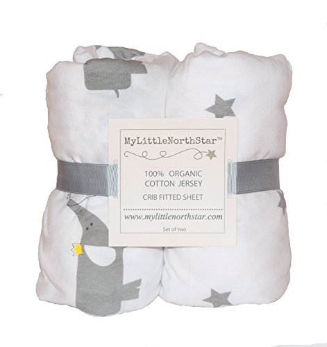 Organic Jersey Cotton Fitted Crib Sheets 2 pack