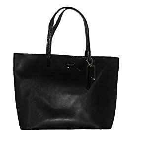 Coach Metro Saffiano Leather Tote Bag Black