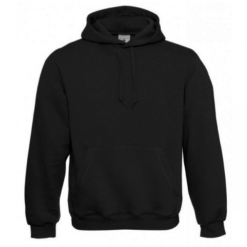 B&C Mens Hooded Sweatshirt / Mens Sweatshirts & Hoodies (XL) (Black)