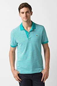 Short Sleeve Heritage Fine Stripe Pique Polo Shirt