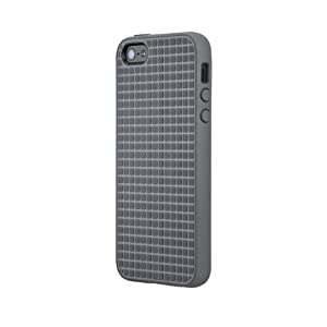 Speck Products PixelSkin HD Rubberized Case for iPhone 5/5s - Retail Packaging - Graphite Grey
