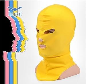 Singol-yoaoo® 1pc Swim Cap Face Mask Swimming Cap Guard Head Cap Sunblock Protect Uv Some Bug Biting Jellyfish for Head (Yellow)