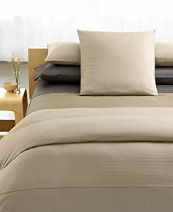 Calvin Klein Core Rib Weave Satin Squares Rope King Coverlet- Coco
