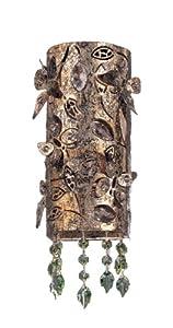 Allegri Lighting 10270-006-SE001 Franchetti  1LT Wall Sconce, Antique Silver Leaf Finish and Clear Swarovski Crystal