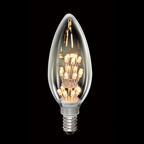 LED Rustika Carbon Kerze Glühbirne 1W = 10W E14 warmweiß 2100K Deco Glühlampe A++
