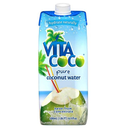 Vita Coco 100% Pure Coconut Water, 17-Ounce Boxes (Pack of 12)