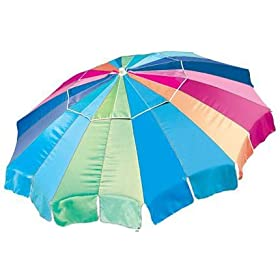 6.5ft Rio Beach / Patio Umbrella with Tilt - Rainbow