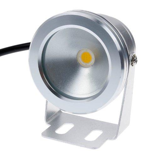 Lemonbest® 10w 12v Silver LED Underwater Flood Light, IP68 Waterproof Landscape Fountain Lamp, Warm White