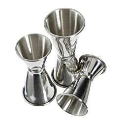 3 Size Stainless Steel Bar Jigger Drink Cocktail Liquor Measuring Double Shot