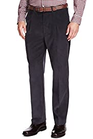 Luxury Flat Front Corduroy Trousers [T18-9720C-S]