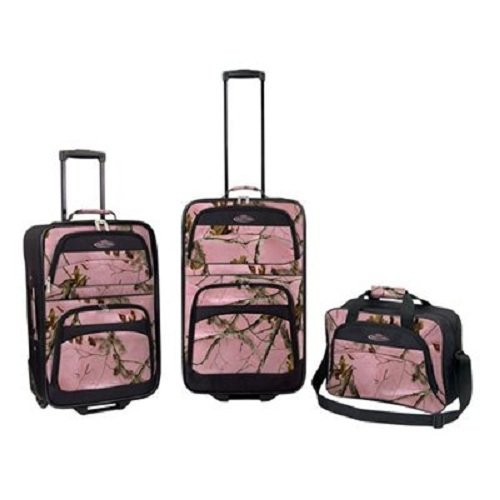 3-Piece-Women-Camo-Travel-Luggage-Suitcases-and-Carry-on-Bag-Set-Pink
