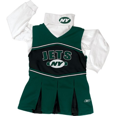 Girls New York Jets Poly Cheerleading Jumper - M 5-6