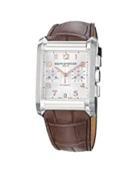 Special Price Baume Mercier Men's 10029 Hampton Mens Chronograph Brown Leather Strap Watch Limited time