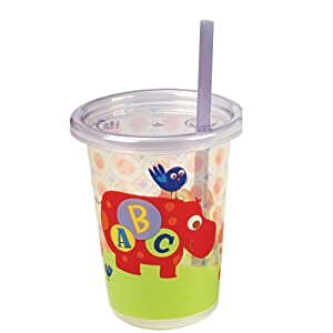 The First Years/Learning Curve ABC Fun Take & Toss Straw Cup, 3 Pack, Colors May Vary