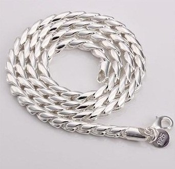 N015 Best Selling Silver Jewelry 20Inch Fashion Silver Chain Dragon Shaped Necklace For Women,Fashion Link,N012