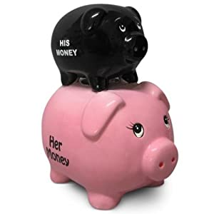 "The funny ""His Money Her Money"" piggy bank for couples and"